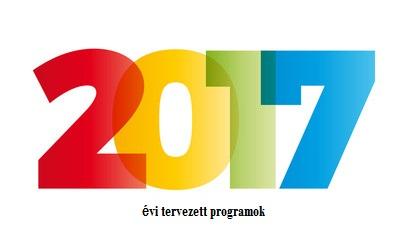 2017. évi tervezett programok