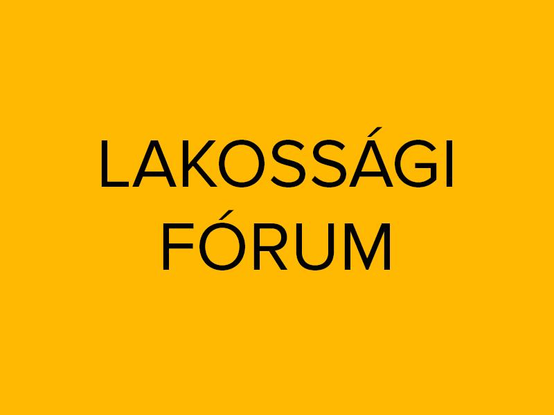 Felhívás: Lakossági Fórum szeptember 25. 17 óra
