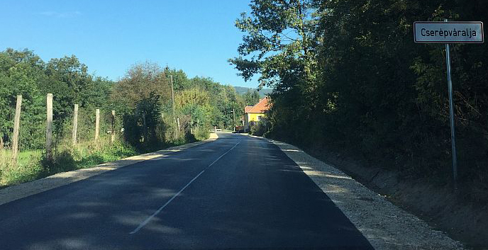 Hosszú évek és ígéretek után végre elkészült a Cserépváralja és Tardot összekötő út