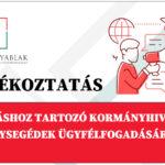 Tájékoztató a járáshoz tartozó kormányhivatali ügysegédek ügyfélfogadásáról